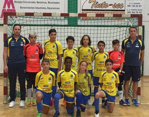 O infantil lidera a liga galega tras seis xornadas.